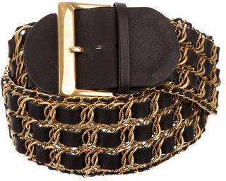 Chloé Chloé Leather Chain-Link Belt