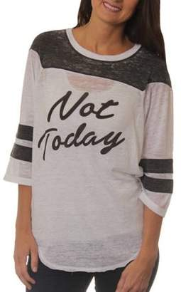 Freeze Women's Not Today Graphic Football T-Shirt