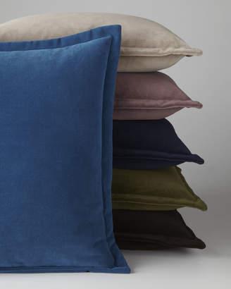 Horchow Henri Flanged Velvet Pillow