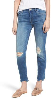 Mother The Looker Chew Hem Ankle Skinny Jeans (Mums the Word)