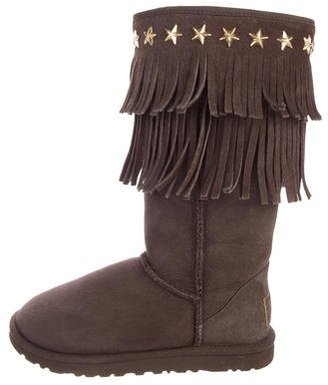 Jimmy Choo x UGG Australia Fringe Boots $180 thestylecure.com