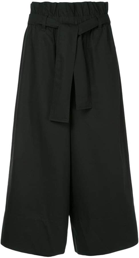 wide leg suiting trousers