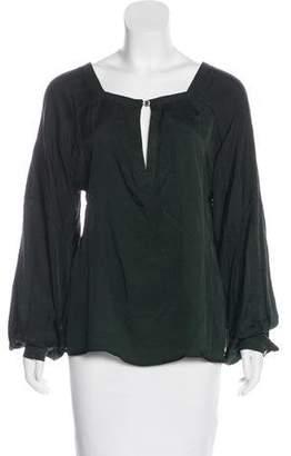 Just Cavalli Silk Long Sleeve Top