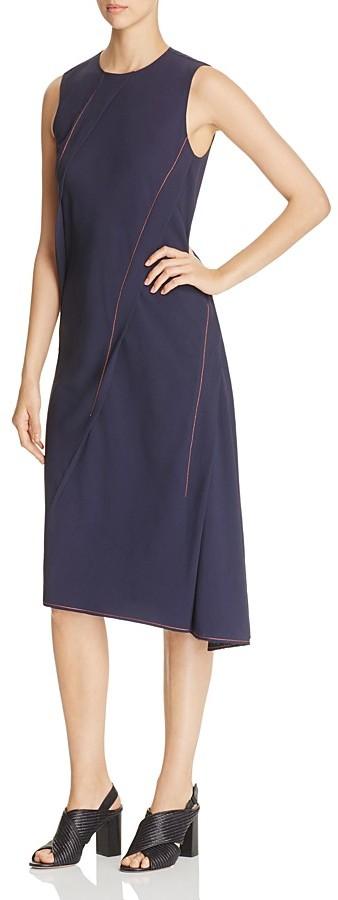 DKNYDKNY Contrast-Stitching Asymmetric Dress