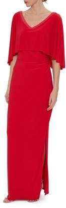 Gina Bacconi Womens Red Keana Jersey Maxi Dress - Red
