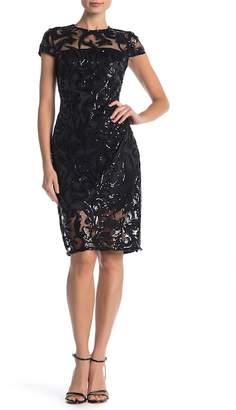Vince Camuto Sequin Cap Sleeve Dress