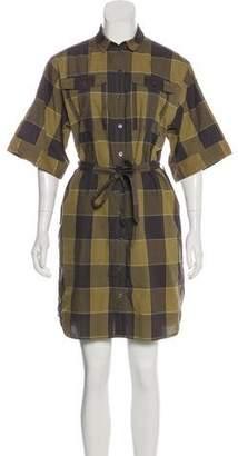 Burberry Printed Short Sleeve Mini Dress