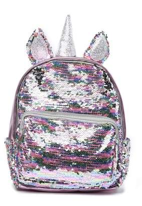 CURLS & PEARLS Small Unicorn Sequin Backpack