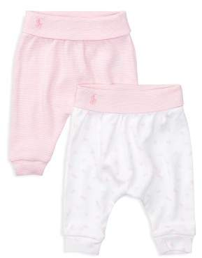Ralph Lauren Girls' Leggings, 2 Pack - Baby