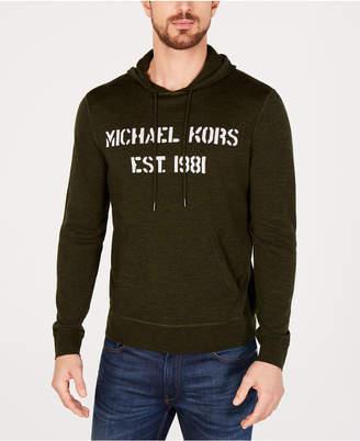Michael Kors Men's Merino Wool Hoodie, Created for Macy's