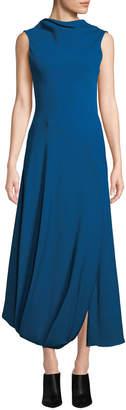 3.1 Phillip Lim Turtleneck Split-Hem Sleeveless Maxi Gown