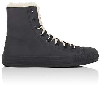 Barneys New York Women's Rubber & Faux-Shearling Rain Sneakers