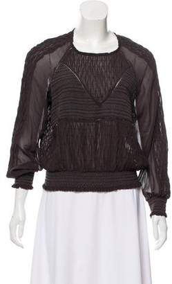 Isabel Marant Long Sleeve Silk Top