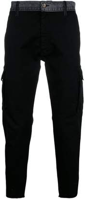 Overcome denim-waistband cargo trousers