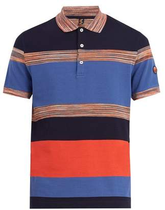 Missoni Mare - Striped Cotton Polo Shirt - Mens - Blue Multi