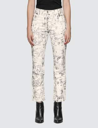 Off-White Off White All Over Graphic Cropped Pants