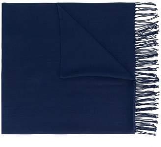 Emporio Armani oversized fringed scarf