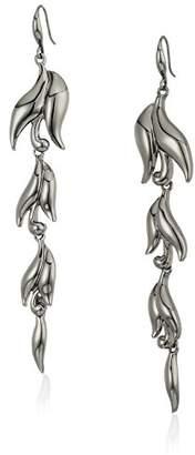 Badgley Mischka Swirl Linear Earrings