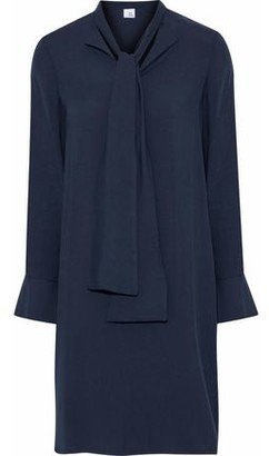 Iris & Ink Bridget Draped Twill Mini Shirt Dress