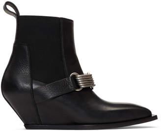 Rick Owens Black Elastic Boots