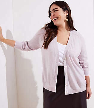 LOFT Plus Signature V-Neck Cardigan