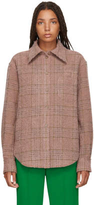 Acne Studios Pink and Brown Checked Shirt