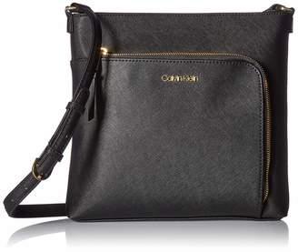 Calvin Klein Hudson Saffiano Leather Top Zip North/South Crossbody