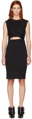 Alexander Wang Black Shoulder Twist Mini Dress