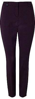 Phase Eight Alice Geo Print Trousers, Navy/Port