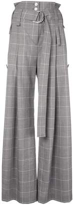Eudon Choi checked flared trousers