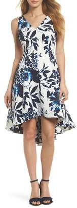 Eliza J Hi-Lo Hem Fit & Flare Dress