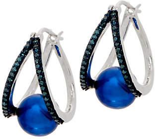 Honora Cultured Pearl & Diamond SplitHoop Earrings