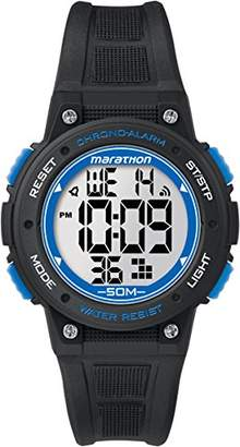 Timex Marathon Unisex TW5K84800 Quartz Watch with LCD Dial Digital Display and Black Resin Strap