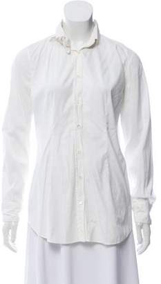 Rivamonti Long Sleeve Button-Up Top