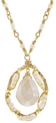 "Dana Kellin Floating Stone Necklace, 16.5"""