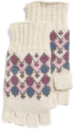 Handmade Fine Gauge Half Finger Wool Gloves