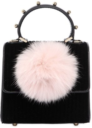 Les Petits Joueurs Baby Alex Bunny Velvet Top Handle Bag