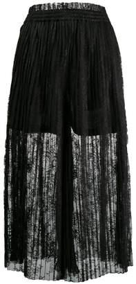 632901565 MM6 MAISON MARGIELA pleated lace maxi skirt
