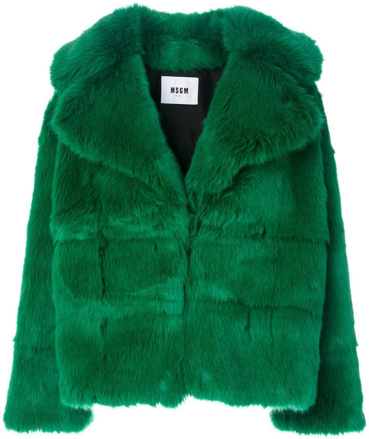 MSGM wide lapel coat