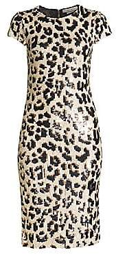 6c1c92e0be63 Alice + Olivia Women s Nat Leopard Print Sequin Dress - Size 0