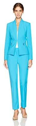Tahari by Arthur S. Levine Women's Bi Stretch Pant Suit with Nickel Zipper Pockets