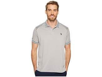 U.S. Polo Assn. Classic Fit Solid Short Sleeve Poly Pique Polo Shirt Men's Short Sleeve Pullover