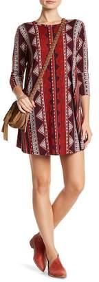 Angie Long Sleeve Printed Swing Dress