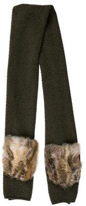 Inverni Fox Fur-Trimmed Scarf