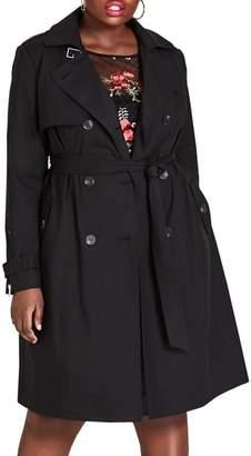 City Chic Mystique Trench Coat