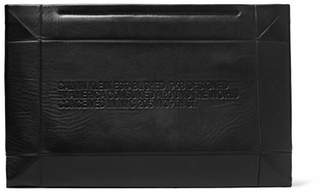 Calvin Klein Embossed Leather Clutch - Black
