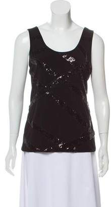 Calvin Klein Collection Sleeveless Sequin Top