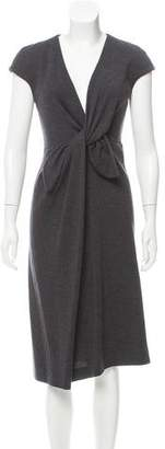 Giambattista Valli Bow-Accented Wool Dress