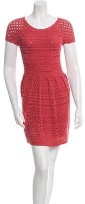 Tibi Open Knit A-Line Dress