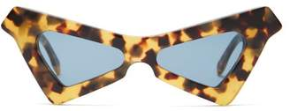 Marni Spy Cat Eye Tortoiseshell Acetate Sunglasses - Womens - Tortoiseshell